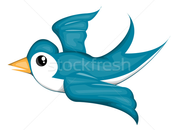 Blue bird Stock photo © lindwa