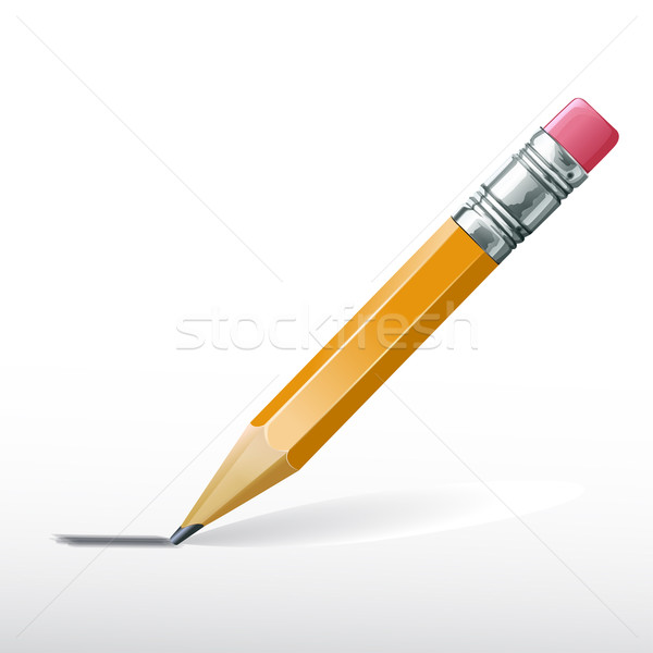 Vector lead pencil  Stock photo © lindwa