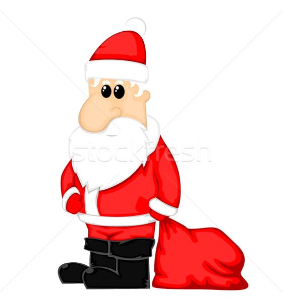 Noël main art cadeau chapeau Photo stock © lindwa