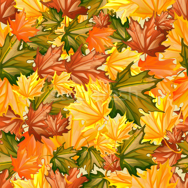 Seamless Autumn Leaves Stock photo © lindwa