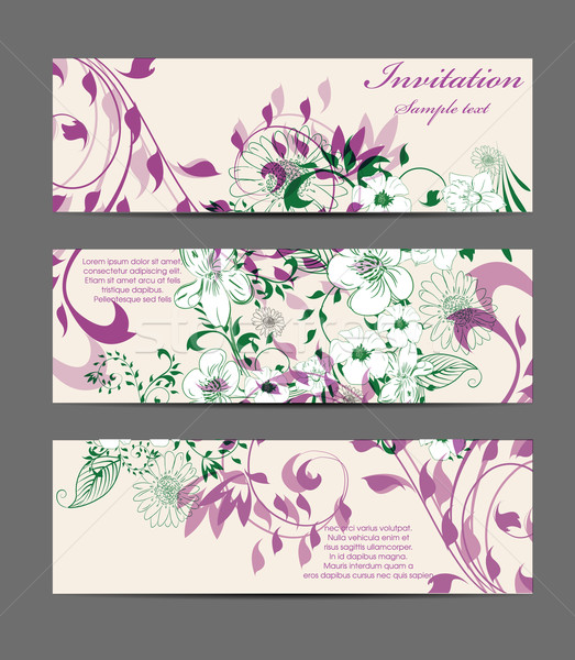 Floral banners Stock photo © lindwa