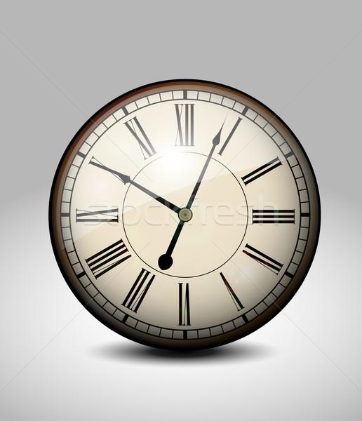öreg óra arc idő óra út Stock fotó © lindwa