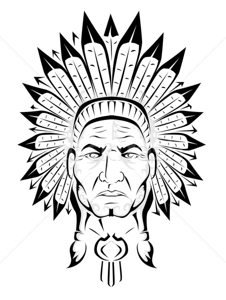 American Indian chief Stock photo © lindwa