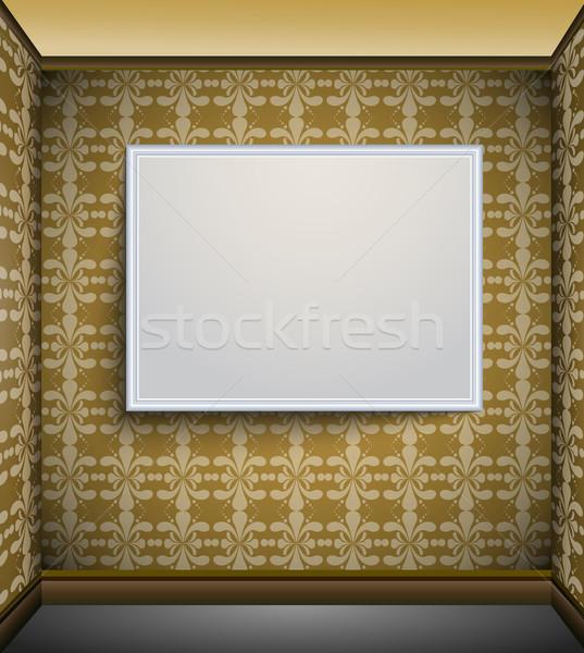 Fotolijstje muur hout frame ruimte schilderij Stockfoto © lindwa