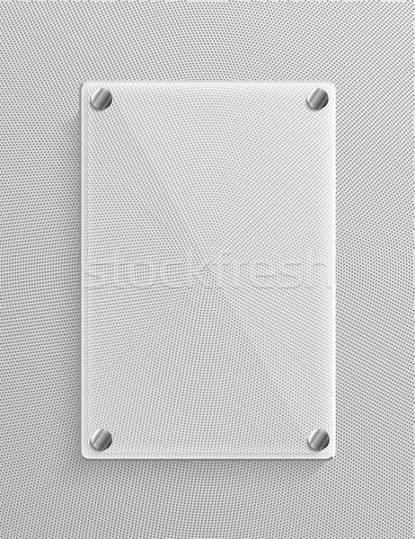 Vidro painel textura luz fundo metal Foto stock © lindwa