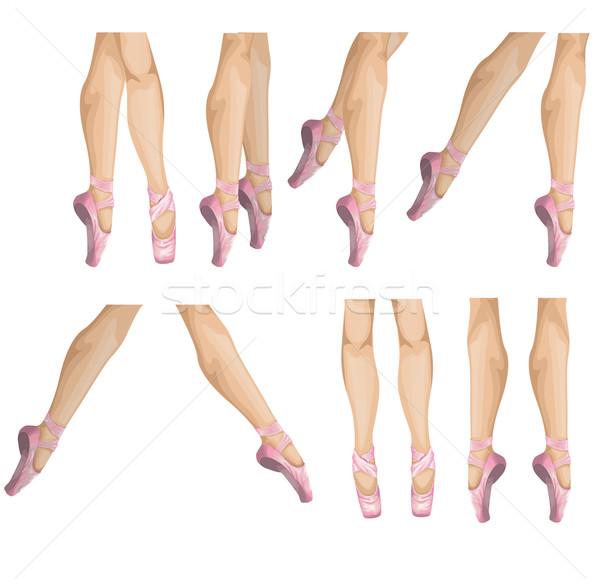 Raccolta balletto pantofole vettore illustrazione donna Foto d'archivio © lindwa