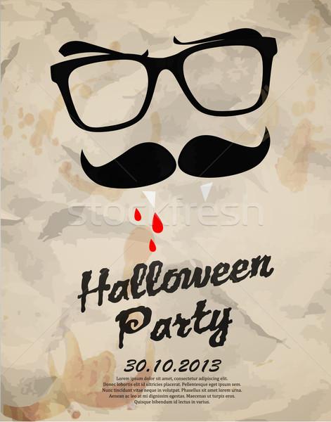 Halloween fête danse nuit vacances affiche Photo stock © lindwa