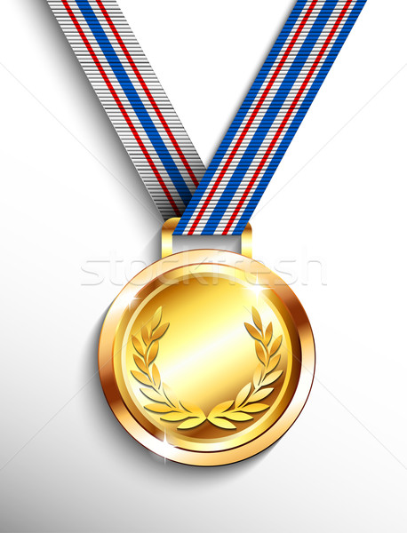 Stockfoto: Gouden · medaille · sport · frame · goud · succes · winnaar