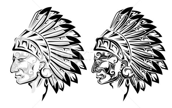 Native american crow tattoo