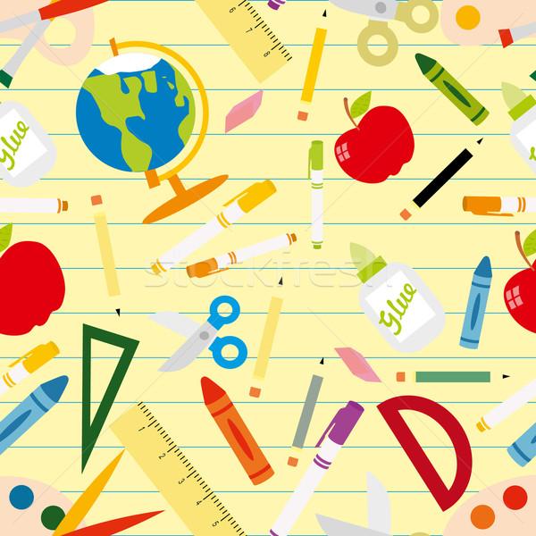 Design peinture crayon fond Photo stock © lindwa