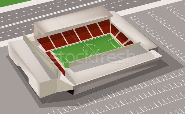 Football stade sport carte Voyage balle Photo stock © lindwa