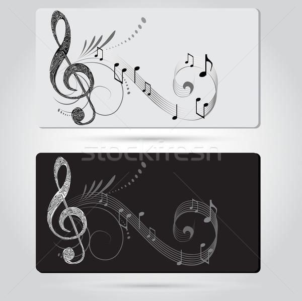 Musique cartes modèles signe disco clé Photo stock © lindwa