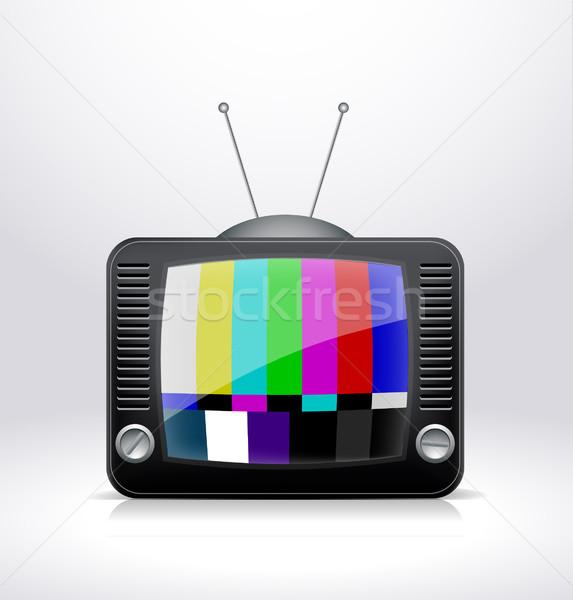 Vector tv televisie abstract teken media Stockfoto © lindwa
