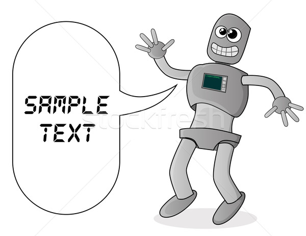 Aranyos rajz robot számítógép technológia háttér Stock fotó © lindwa