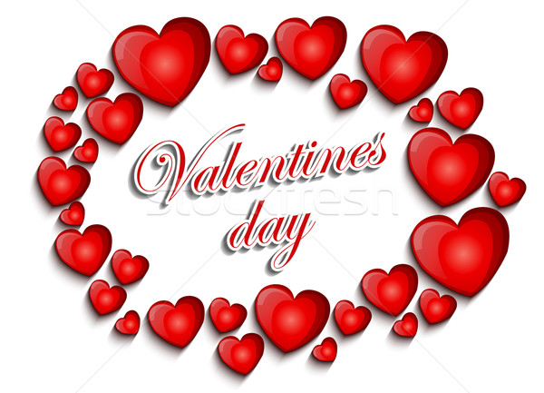 Stock fotó: Valentin · nap · terv · levél · festmény · kártya · minta