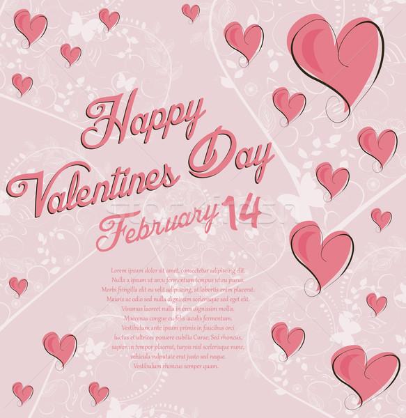 Dia dos namorados amor fundo pintura cor cartão Foto stock © lindwa