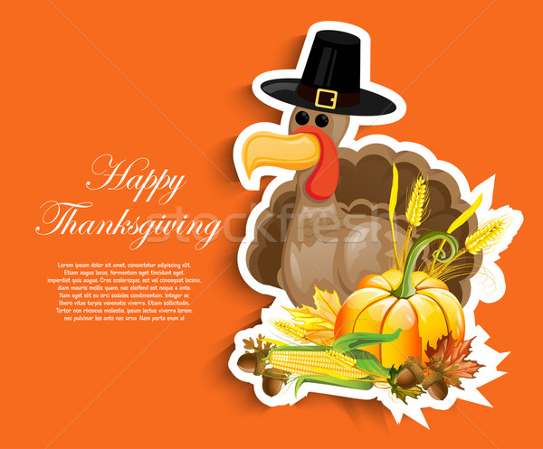 Happy Thanksgiving Day Stock photo © lindwa