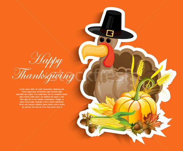 Boldog hálaadás nap absztrakt vásárlás felirat Stock fotó © lindwa