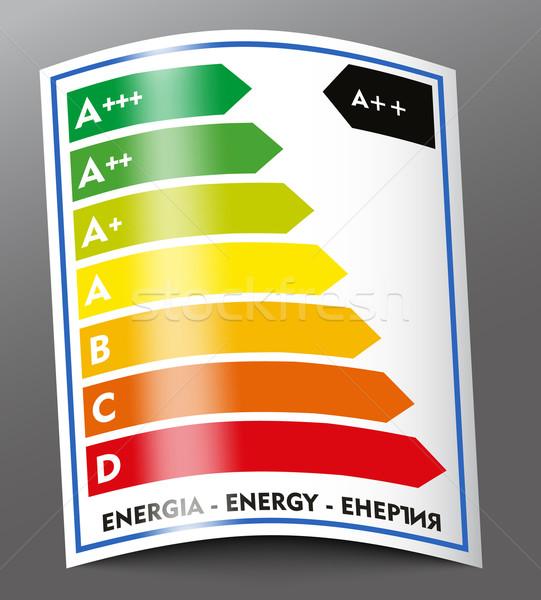 Enerji imzalamak yeşil grafik grafik mimar Stok fotoğraf © lindwa