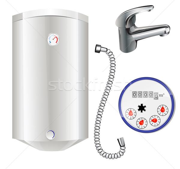 ısıtma su içmek duş iplik vektör Stok fotoğraf © lindwa