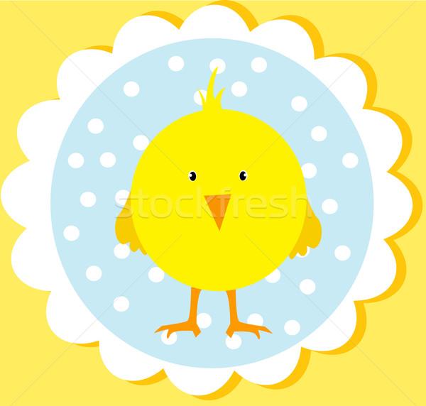 Cute Pâques carte bébé heureux design Photo stock © lindwa