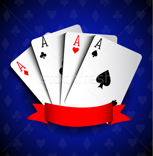 Poker cartes design costume casino rétro Photo stock © lindwa