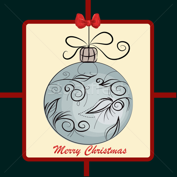 Vidám karácsonyi üdvözlet háttér ír piros minta Stock fotó © lindwa