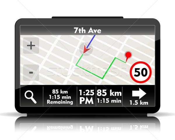 GPS navigation Stock photo © lindwa