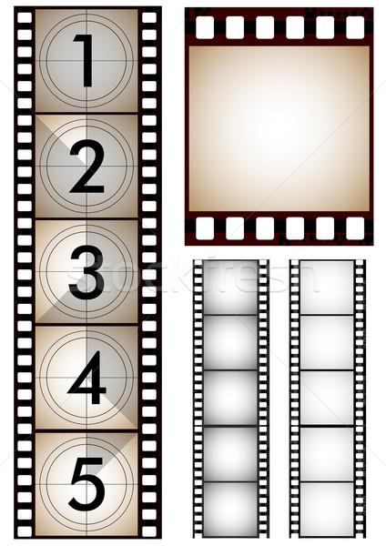 Ayarlamak filmstrip film çerçeve ekran sinema Stok fotoğraf © lindwa