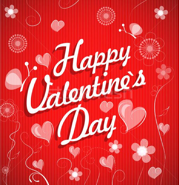 Valentin nap szív keret művészet felirat levél Stock fotó © lindwa