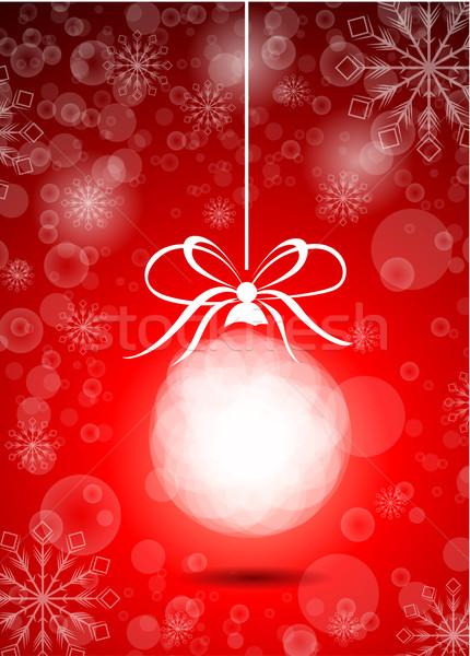 Stock vektor gyönyörű karácsony piros labda Stock fotó © lindwa