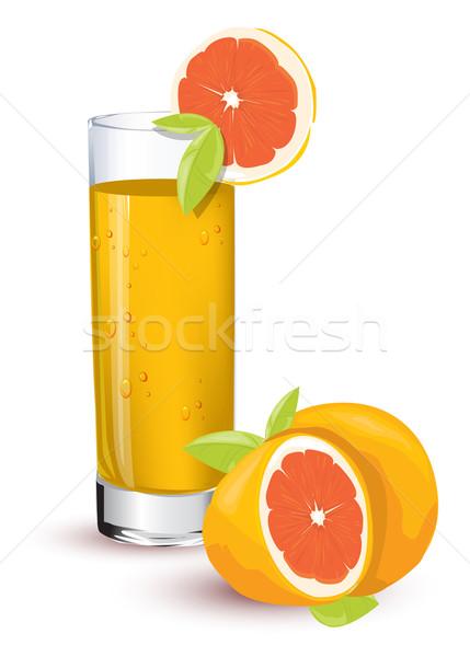 Narancslé étel levél gyümölcs ital reggeli Stock fotó © lindwa