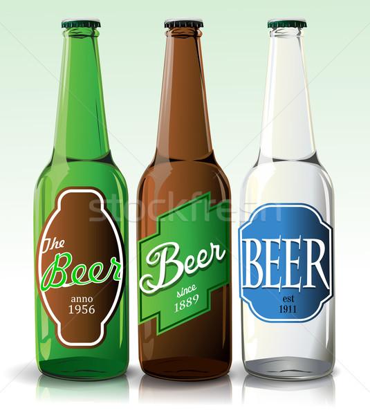 Etiqueta projeto fundo beber garrafa Foto stock © lindwa