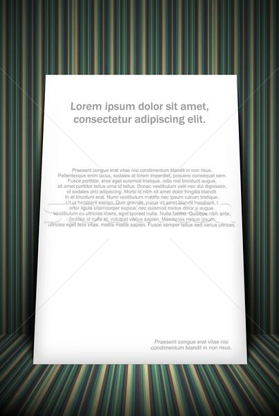 Papier étage peinture imprimer marketing blanche Photo stock © lindwa
