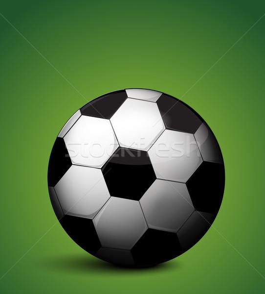 Ballon vert amusement balle tasse stade Photo stock © lindwa
