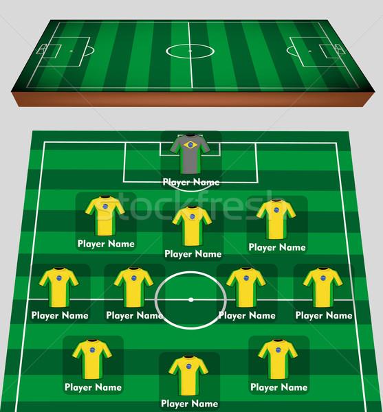 Soccer team Stock photo © lindwa