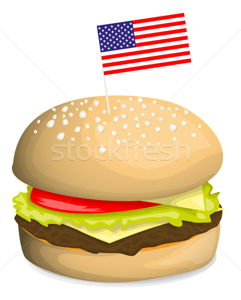American hamburger Stock photo © lindwa