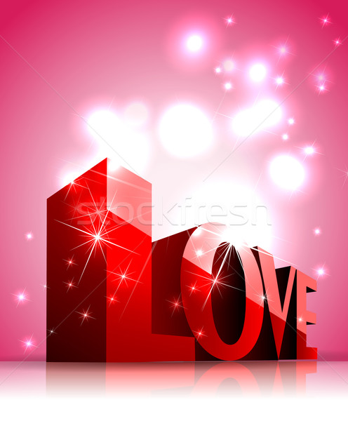 3D text love Stock photo © lindwa