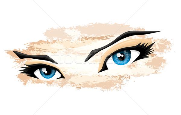 Mulher olhos cara mulheres projeto preto Foto stock © lindwa