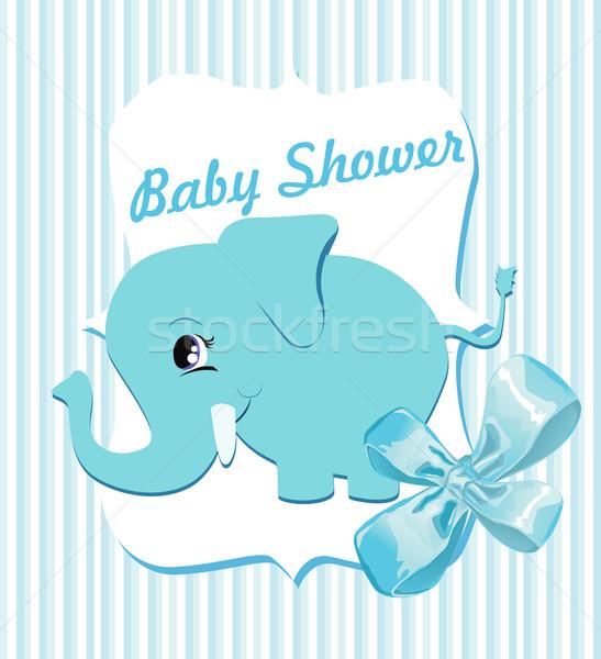 Bebê chuveiro textura festa criança aniversário Foto stock © lindwa