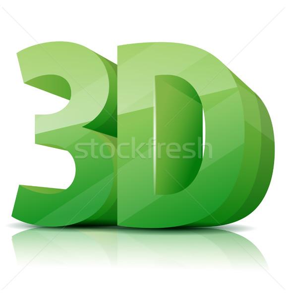 3D ikon internet terv technológia háttér Stock fotó © lindwa