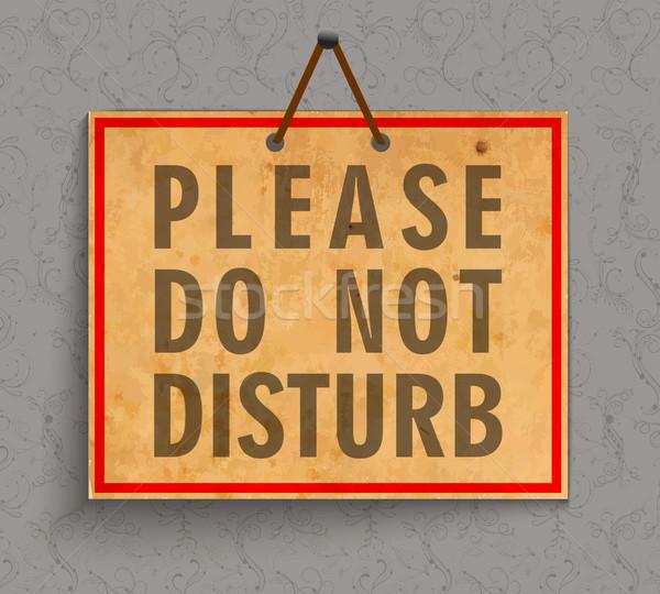Stock photo: Please Do not Disturb