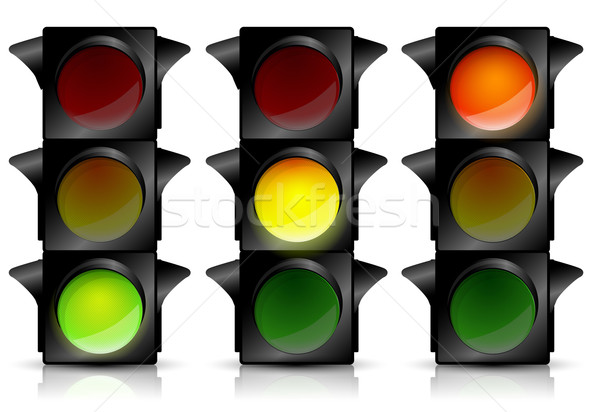 Traffic lights Stock photo © lindwa