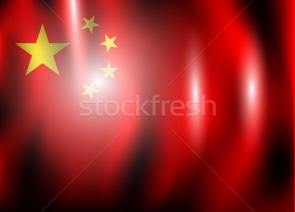 Vlag China ontwerp wereld achtergrond star Stockfoto © lindwa