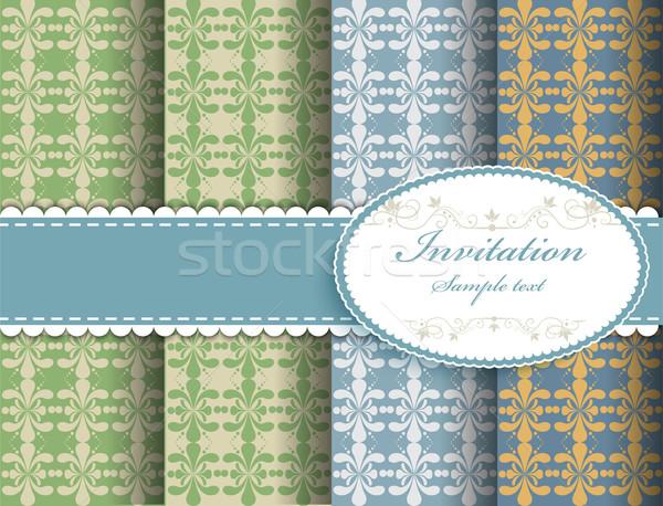 Rétro modèles résumé fond art tissu Photo stock © lindwa