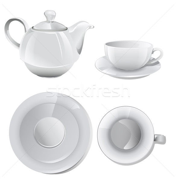 coffee set or tea set  Stock photo © lindwa