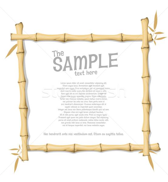 Bambou cadre bois art espace imprimer Photo stock © lindwa