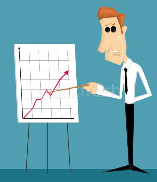 Desenho animado trabalhador de escritório apresentação empresário educação Foto stock © lindwa