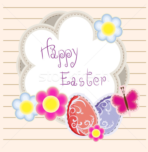 Easter holiday vector background Stock photo © lindwa