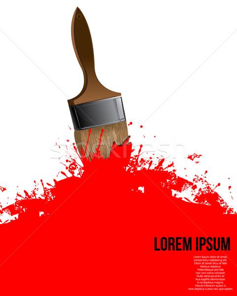 Fırça boya boya kalem arka plan sanat renk Stok fotoğraf © lindwa